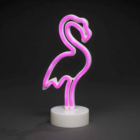 Konstsmide LED silhouet Flamingo met Neon flex ropelight