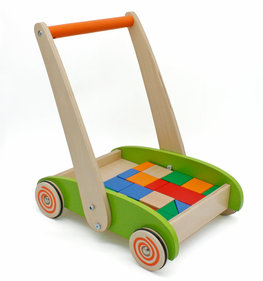 Valetti pushcar with wooden blocks