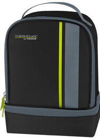 Thermos Radiance Dual Compartment zwart lunchkit
