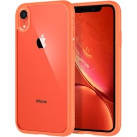 Spigen iPhone XR Case Ultra Hybrid Coral hoesje