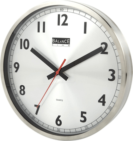 Balance Time stainless steel wall clock