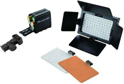 Falcon Eyes LED Lamp Set Dimbaar DV-160V-K3 op Batterij