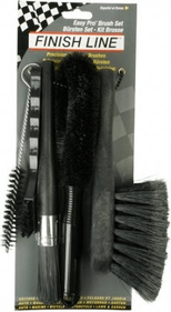 Finish Line bicycle brush set