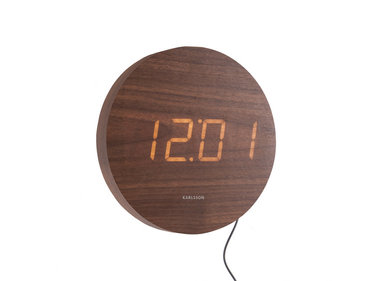 Karlsson wall clock Round wood
