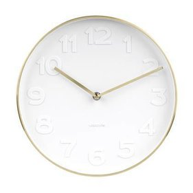 Wall clock Mr. White brushed gold