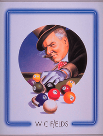 WC Fields Film classic billiard poster