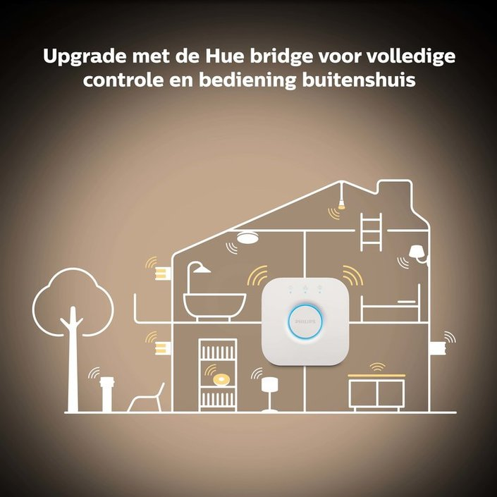 Philips Hue Bluetooth - E27 - standaard lamp + dimmer - warm tot koelwit licht - 1 pack