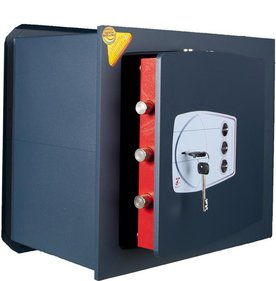Technomax Recessed wall safe Gold GD