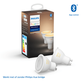 Philips Hue Bluetooth spot - GU10 - warm tot koelwit licht - 2-pack