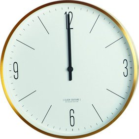 House Doctor Clock Couture Gold wandklok