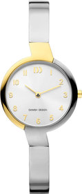 Danish Design Q1201 dameshorloge 28mm zilver/goud
