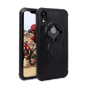 Rokform Crystal Carbon Black iPhone XR - telefoonhoesje