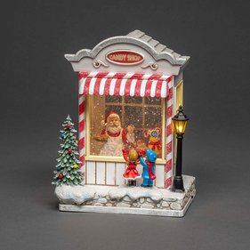 Konstsmide LED Candy Store water-filled Christmas decoration