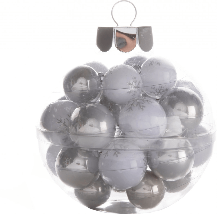 Christmas baubles with snowflake