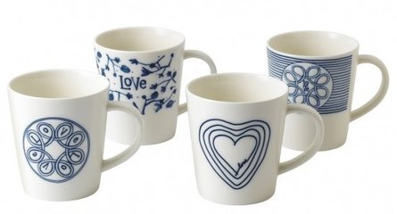 Royal Doulton Ellen DeGeneres Love 480ml - Love 4-teiliges Tassen-Set groß