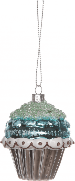 Cupcake Zilver/ Wit/ Turquoise