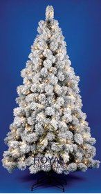 Royal Christmas kunstkerstboom Chicago PP Sneeuw / Flock Warm LED 150 cm