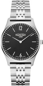 Roamer Elements 34mm silver / svart armbandsur