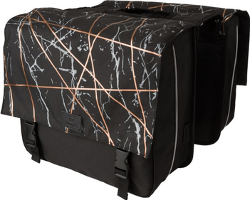 Fastrider Marble double bicycle bag black