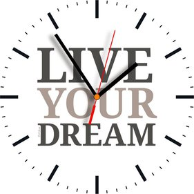 Contento Live Your Dream Wandklok