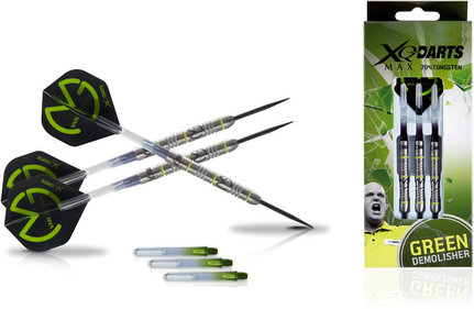 "XQ Max Michael van Gerwen ""Green Demolisher"" 70% Steel Darts"