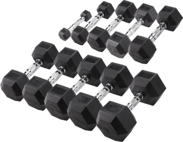 Body-Solid Hexa Rubber Dumbbell Set 1 -10 kg (10 paar)