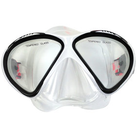 Tunturi Duikbril - Diving mask - Senior - Wit/Zwart