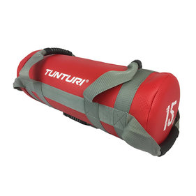 Tunturi Power bag - Strength bag - Sandbag - Fitness bag - 15 kg - Rood