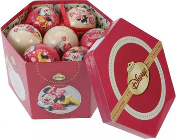 Disney Minnie Mouse Kerstballen in cadeauverpakking