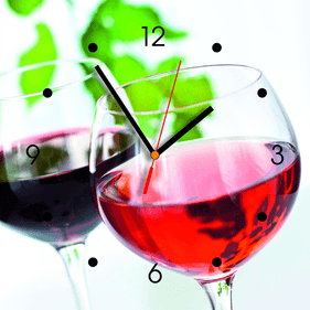 Contento wineglass wall clock