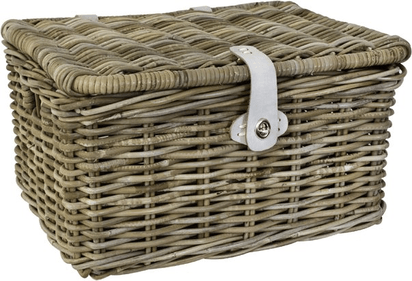 Fast Rider Rattan bike basket with flap