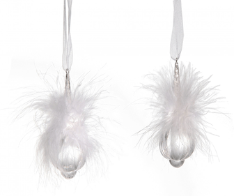 Droplets with down feathers