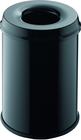 Helit Safety Waste Bin Black