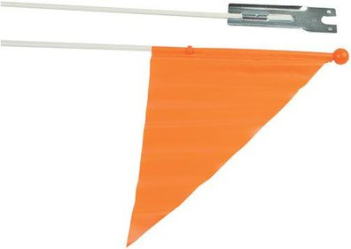 Orange safety flag