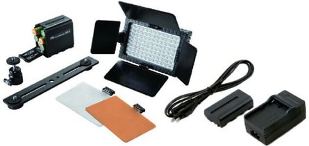 Falcon Eyes LED Lamp Set Dimbaar DV-96V-K2 met Accu
