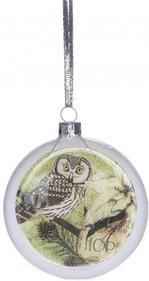 Christmas Christmas bauble with Owl