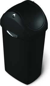 Simplehuman Swing Lid Plastic Can 40 liter