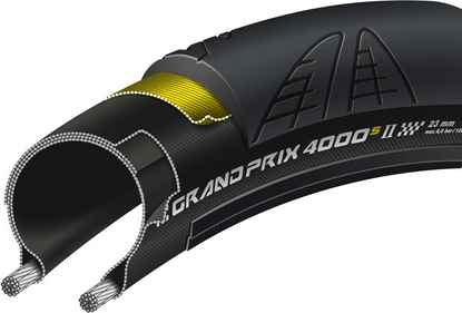 Continental Grand Prix 4000 Black Chili Compound Road Race Tyre - Black, 700 x 23 c