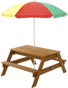 Plum Children's picnic table with Parasol