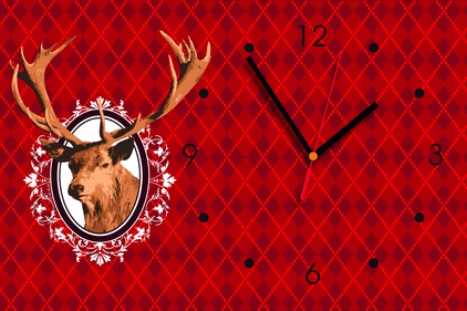 Contento Reindeer Design 2 wall clock