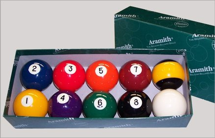 Aramith Nineball 57,2 mm poolballen