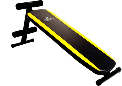 Bruce Lee By Marcy Signature Slant Board Weight Bench - Black/Yellow, 11 kg