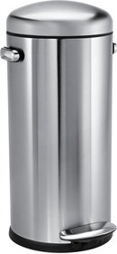 SimpleHuman Retro Pedal Bucket Stainless Steel 30 Liter