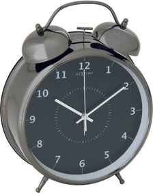 NeXtime Wake Up Large Metal Alarm Clock, Black