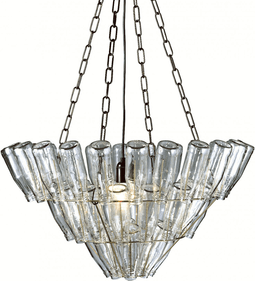 Leitmotiv Chandelier Large Bottle weiß, Design Bonne Plat
