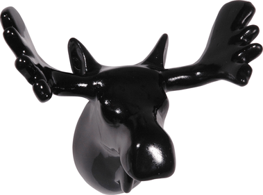 Zoo Moose Coat Hook, Black