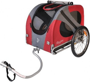 DoggyRide Original Dog Bike Trailer, Urban Red