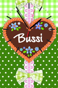 Contento Bussi Hearts wall clock