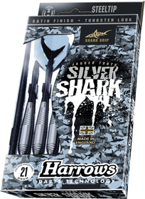 Harrows Silver Shark steeltip dartpile sæt
