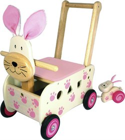 I'm Toy Toy Pink Rabbit push cart
